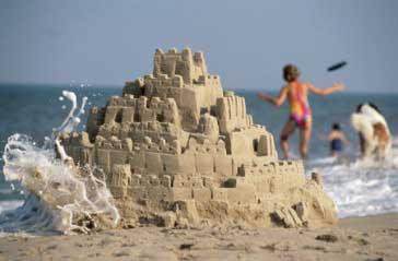 Foto de un castillo de arena